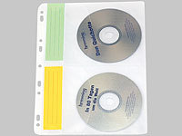 General Office DVD/CD Ringbucheinlagen 2 x 2 für 40 CD/DVD