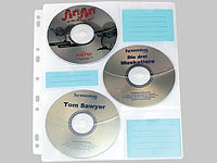 General Office CD/DVD Ringbucheinlagen 2 x 3 für 60 CD/DVD