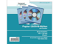 General Office 20 Papier CD/DVD-Archivhüllen blau mit Fenster