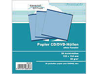 General Office 20 Papier CD/DVD-Archivhüllen blau