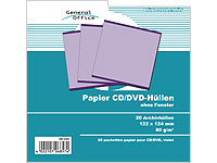General Office 20 Papier CD/DVD-Archivhüllen lila