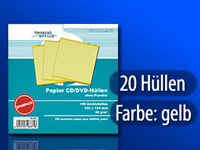General Office 20 Papier CD/DVD-Archivhüllen gelb