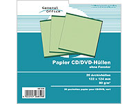 General Office 20 Papier CD/DVD-Archivhüllen grün
