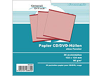 General Office 20 Papier CD/DVD-Archivhüllen rot